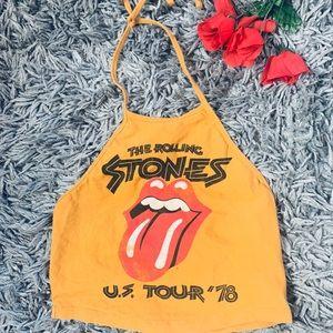 Rolling Stones crop top size s